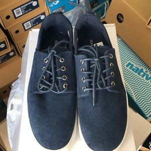 Navy Suede Clear Weather Sneakers